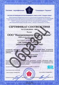 Сертификат BS EN 16001:2009